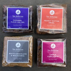 Gluten-free brownies from Las Delicias Patisserie