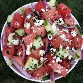 Gluten-free Watermelon Cucumber Feta Salad