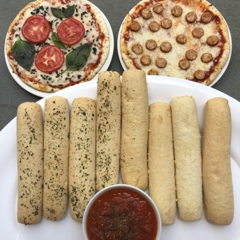 Gluten-free pizza and breadsticks by MyBread Bakery
