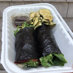 Nori wrap from Catch A Healthy Habit Cafe