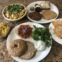 Gluten-free vegan lunch from Skinny Buddha