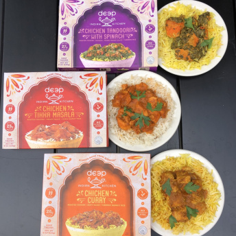 Gluten-free frozen meals by Deep Indian Kitchen