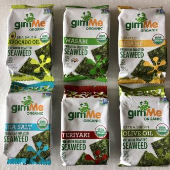 Gluten-free seaweed snacks by GimMe Snacks