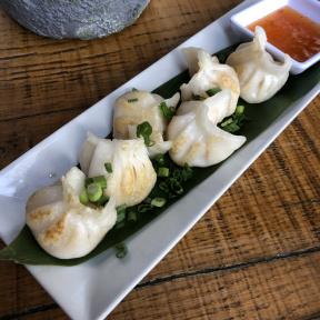 Gluten-free shrimp dumplings from Exit 4 Food Hall