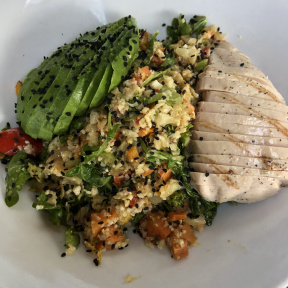Gluten-free Buddha bowl from Exit 4 Food Hall
