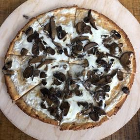 Gluten-free cauliflower crust pizza from Exit 4 Food Hall