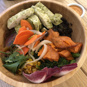 Gluten-free Tansana bowl from Strings of Life (S.O.L)