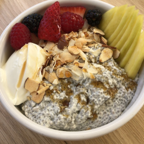 Gluten-free chia pudding from Strings of Life (S.O.L)