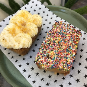 Gluten-free dairy-free fairy bread and carrot cake from Strings of Life (S.O.L)