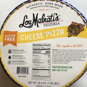 Gluten-free cheese pizza from Lou Malnati's