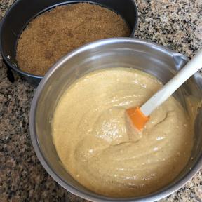 Making gluten-free Pumpkin Cheesecake