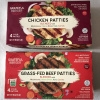 Gluten-free chicken and beef patties by Grateful Burger