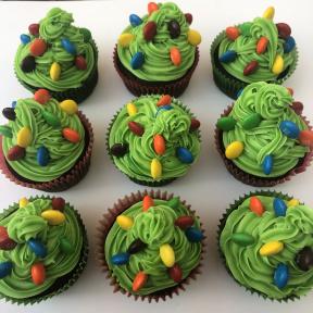Gluten-free dairy-free Christmas Tree Cupcakes