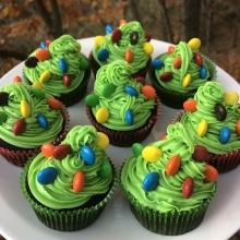 Gluten-free Christmas Tree Cupcakes