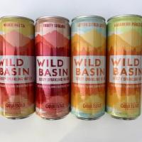 Gluten-free boozy sparkling water by Wild Basin