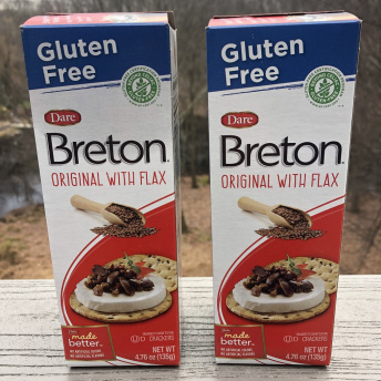 Breton Gluten-Free Crackers Original with Flax are certified GF