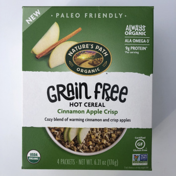 Gluten-free grain-free hot cereal by Nature's Path