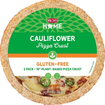 Gluten-free cauliflower pizza crust by Rich's Home