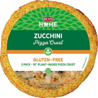 Guten-free zucchini pizza crust by Rich's Home