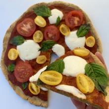 Delicious gluten-free Cauliflower Crust Pizza
