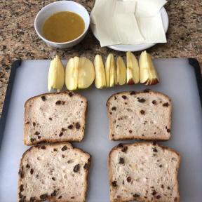 Making Apple Honey Mustard Panini