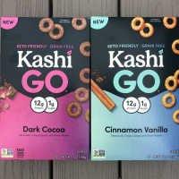 Gluten-free grain-free keto-friendly KashiGO cereal by Kashi
