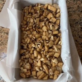 Making gluten-free Apple Walnut Loaf