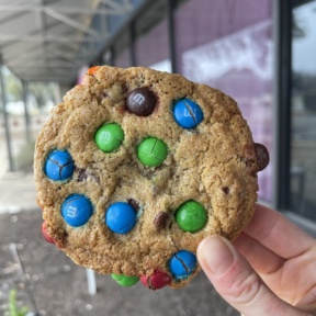Gluten-free M&M cookie from Dream Bakery