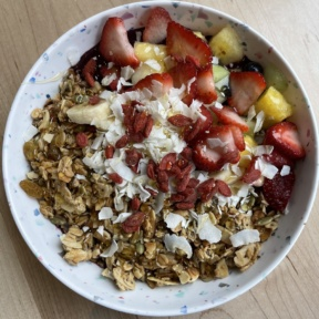 Gluten-free acai bowl from The Daily Beet