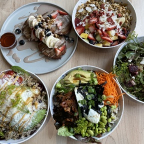 Gluten-free brunch spread from The Daily Beet