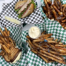 Gluten-free fries and sandwiches from The Salted Fry
