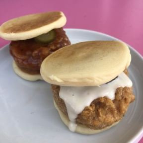 Gluten-free vegan fried chicken sliders from PAC Pastries