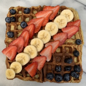 Gluten-free dairy-free Two Ingredient Waffles
