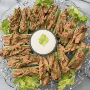 Gluten-free Buffalo Chicken Celery Boats