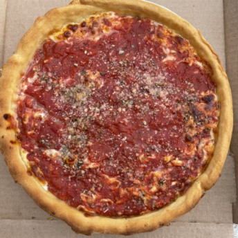 Gluten-free deep dish pizza from Chicago's Pizza