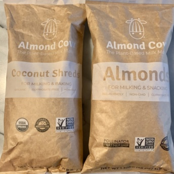 Gluten-free almonds and coconut shreds by Almond Cow