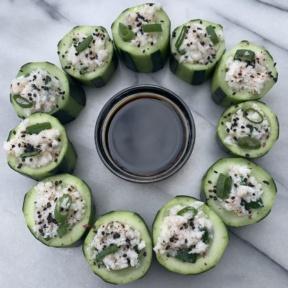 Gluten-free Crab Cucumber Cups