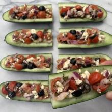 Gluten-free Greek Cucumber Boats