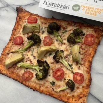 Gluten-free veggie pizza by American Flatbread