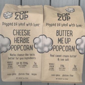 Gluten-free popcorn by Popzup