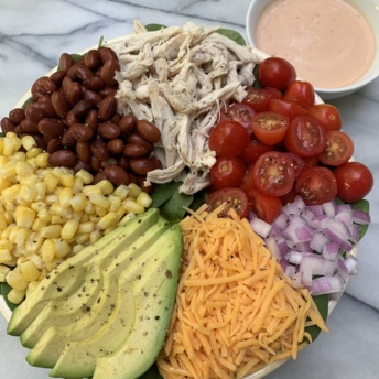 Gluten-free Chicken Taco Salad with Southwest Ranch Dressing