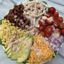 Chicken Taco Salad with Southwest Ranch Dressing