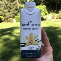 Gluten-free vegan vanilla nutrition shake by Kate Farms