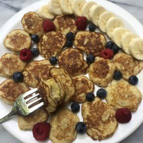 Gluten-free Mini Banana Stuffed Pancakes