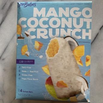 Gluten-free vegan mango coconut crunch bars by SorBabes
