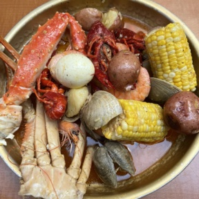 Gluten-free seafood boil from SONO Boil
