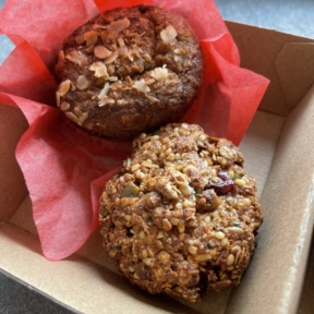 Gluten-free vegan muffin and cookie from Root2Rise NY