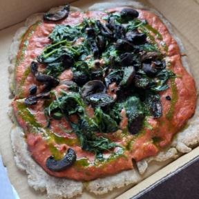 Gluten-free vegan grain-free pizza from Root2Rise NY