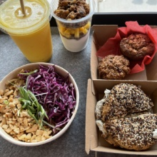 Gluten-free vegan lunch from Root2Rise NY