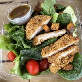 Gluten-free garden salad with chicken from Twist Bakery Cafe